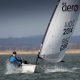 Single-handed sailing dinghy : skiff