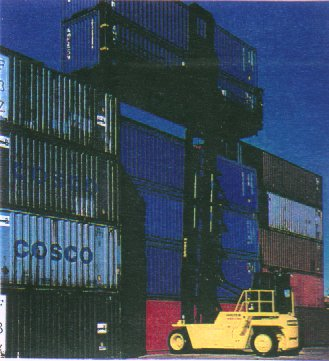 H360XL empty cargo container stacker